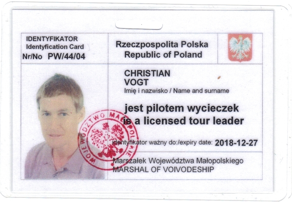 Christians Reiseleiterplakette